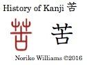 History of Kanji 苦