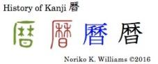 History of Kanji 暦