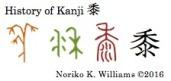 History of Kanji 黍