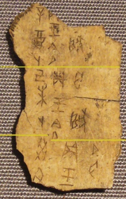 Oracle Bone Writing Photo 3
