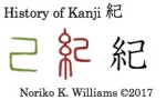 History of Kanji 紀