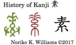 History of Kanji 素