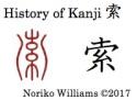 History of Kanji 索