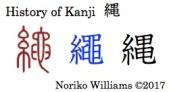 History of Kanji 縄