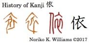 History of Kanji 依