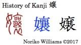 History of Kanji 嬢