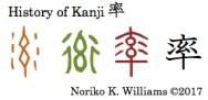 History of Kanji 率