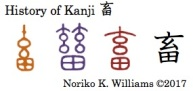 History of Kanji 畜
