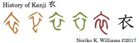 History of Kanji 衣
