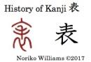 History of Kanji 表