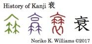 History of Kanji 衰