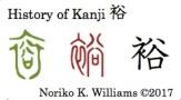 History of Kanji 裕