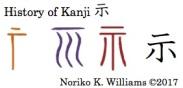 History of Kanji 示