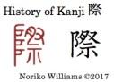 History of Kanji 際r