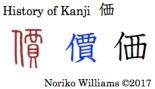 History of Kanji 価