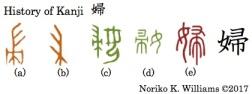 History of Kanji 婦
