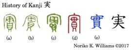 History of Kanji 実
