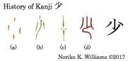 History of Kanji 少