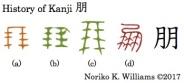History of Kanji 朋