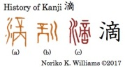 History of Kanji 滴