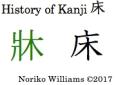 History of Kanji 床