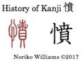 History of Kanji 憤