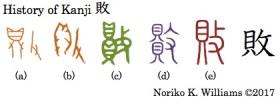 History of Kanji 敗