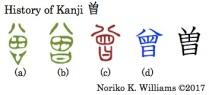 History of Kanji 曽