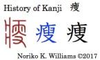 History of Kanji 痩