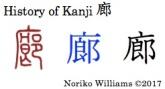 History of Kanji 廊