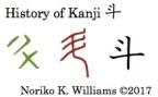 History of Kanji 斗