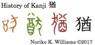 History of Kanji 猶