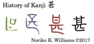 History of Kanji 甚