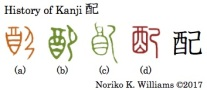 History of Kanji 配