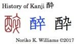 History of Kanji 酔