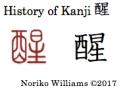 History of Kanji 醒
