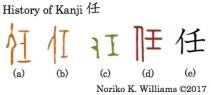 History of Kanji 任