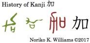 History of Kanji 加