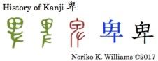 History of Kanji 卑