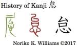 History of Kanji 怠