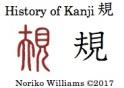 History of Kanji 規