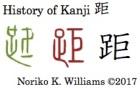 History of Kanji 距