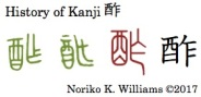 History of Kanji 酢