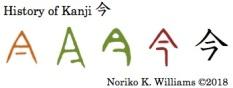 History of Kanji 今