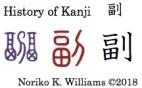 History of Kanji 副