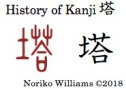History of Kanji 塔