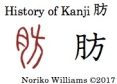History of Kanji 肪