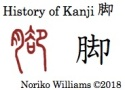 History of Kanji 脚