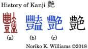 History of Kanji 艶