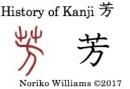 History of Kanji 芳